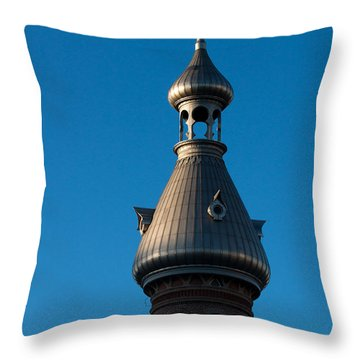 Throw Pillow featuring the photograph Tampa Bay Hotel Minaret by Ed Gleichman