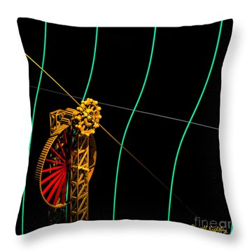 Tangent Graph Math Engine Throw Pillow
