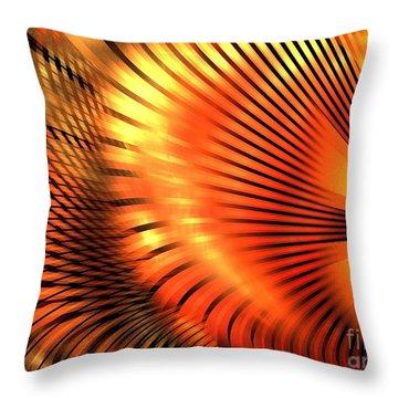 Tangerine Throw Pillow by Kim Sy Ok