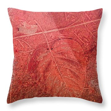 Tangerine Tango Heart Throw Pillow by Bonnie Bruno