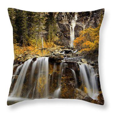 Tangle Falls, Jasper National Park Throw Pillow
