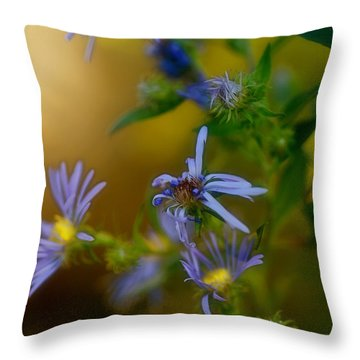 Tangled Up In Blue Throw Pillow by Susan Capuano