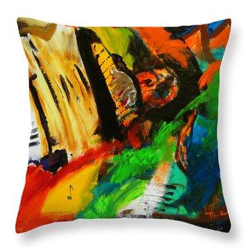 Tango Through The Memories Throw Pillow by Keith Thue