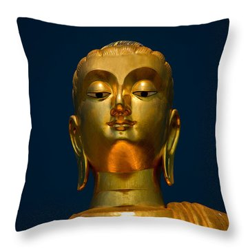 Tangsai Buddha Throw Pillow by Adrian Evans