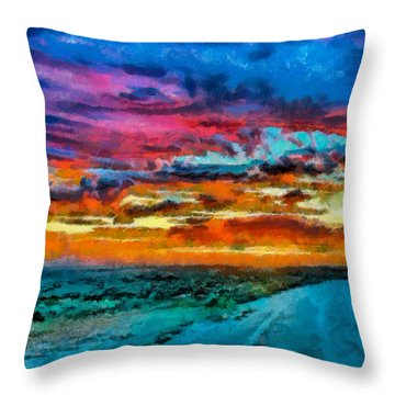 Taos Sunset Iv Wc Throw Pillow