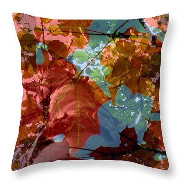 Tapestry Of Autumn 2 Throw Pillow by France Laliberte