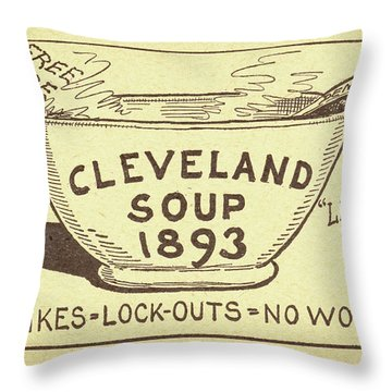 Tariff League Postcard, 1906 Throw Pillow by Granger