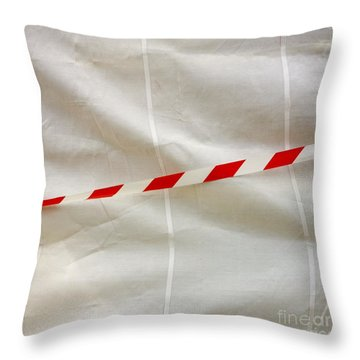 Tarpaulin Throw Pillow by Bernard Jaubert