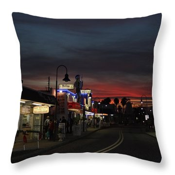 Throw Pillow featuring the photograph Tarpon Springs After Sundown by Ed Gleichman