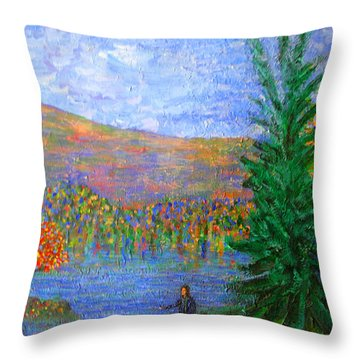 Tauslich Casting Sin Into The Depths Throw Pillow