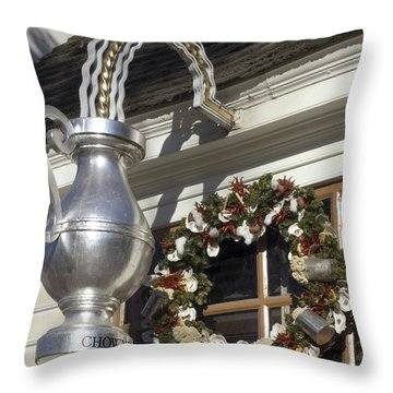 Tavern Tankard Sign Throw Pillow by Sally Weigand