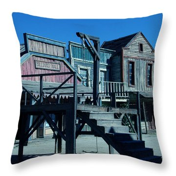 Taverna Western Village In Spain Throw Pillow