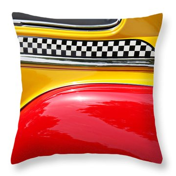 Taxi 1946 Desoto Detail Throw Pillow by Garry Gay