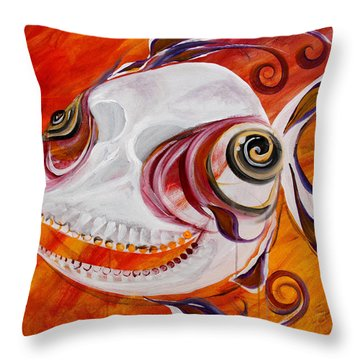 T.b. Chupacabra Fish Throw Pillow