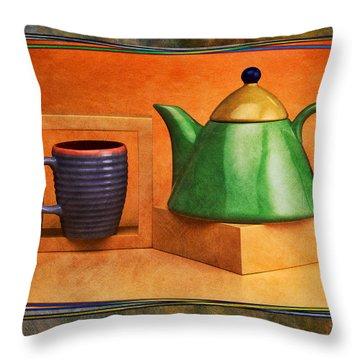 Tea  Throw Pillow by Mauro Celotti