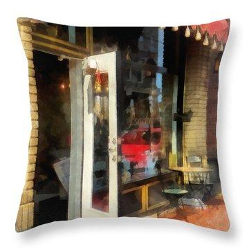 Tea Room In Sono Norwalk Ct Throw Pillow by Susan Savad