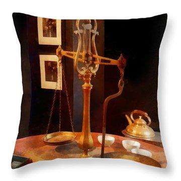Tea Scale Throw Pillow by Susan Savad