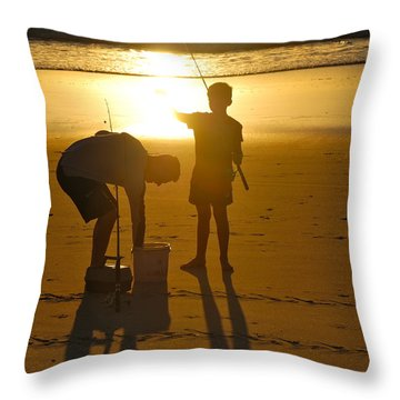 Throw Pillow featuring the photograph Teach A Man To Fish... by Eric Tressler