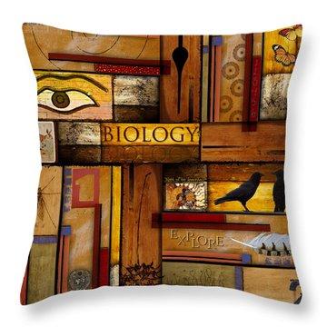 Teacher - Biology Throw Pillow