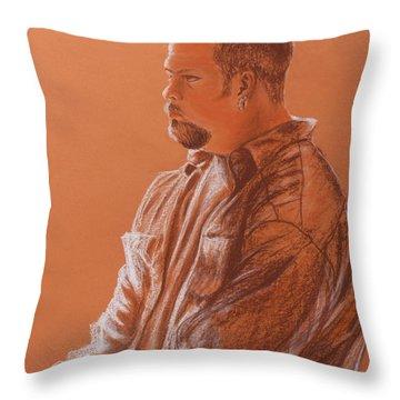 Teacher's Son Throw Pillow by Kume Bryant