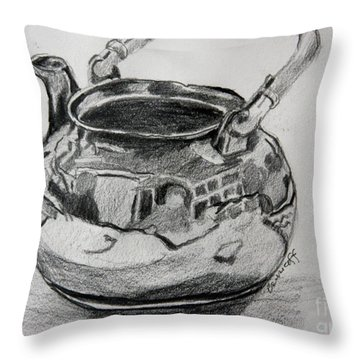 Teapot Reflections Throw Pillow