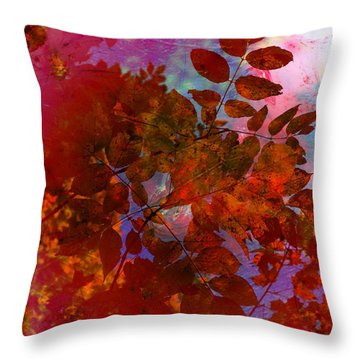 Tears Of Leaf  Throw Pillow by Jerry Cordeiro