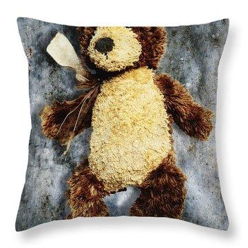 Teddy Bear Throw Pillow by Skip Nall