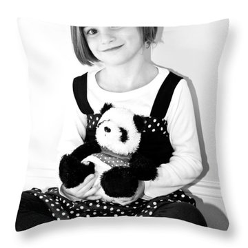 Teddy Bear Throw Pillow by Susan Leggett