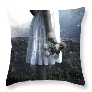 Teddy Throw Pillow by Joana Kruse