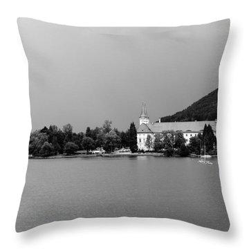 Tegernsee Throw Pillow by Ralf Kaiser