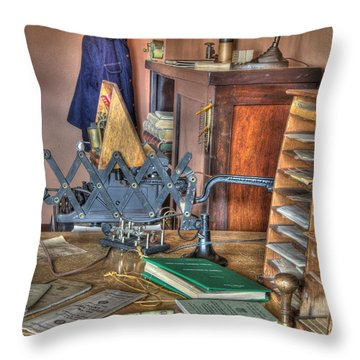 Telegraph Office At Kelso Throw Pillow by Bob Christopher
