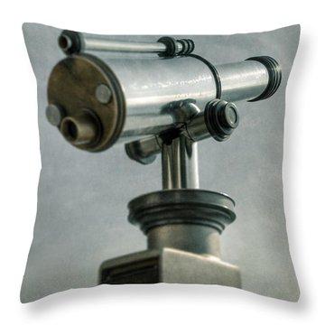 Telescope Throw Pillow by Joana Kruse