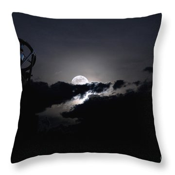 Telescope Pointed Out To The Night Sky Throw Pillow by Roth Ritter