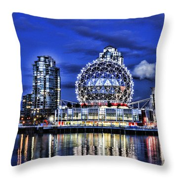 Telus Science Center Vancouver Bc Throw Pillow by Lawrence Christopher