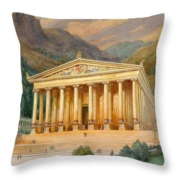 Temple Of Diana Throw Pillow by English School