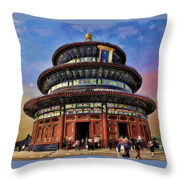 Temple Of Heaven - Beijing China Throw Pillow
