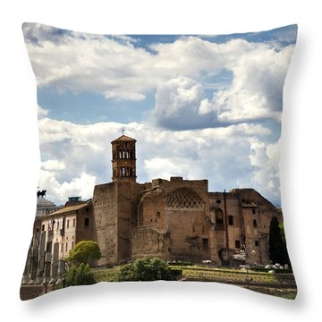 Temple Of Venus And Roma Throw Pillow by Fabrizio Troiani