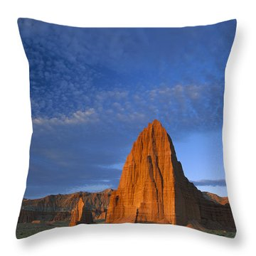 Temples Of The Sun And Moon Throw Pillow by Tim Fitzharris