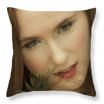 Tempting Throw Pillow by Daniel Csoka