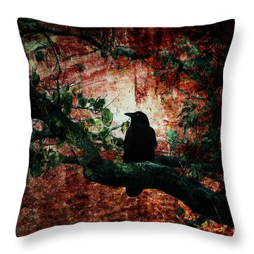 Tempting Fate Throw Pillow by Andrew Paranavitana