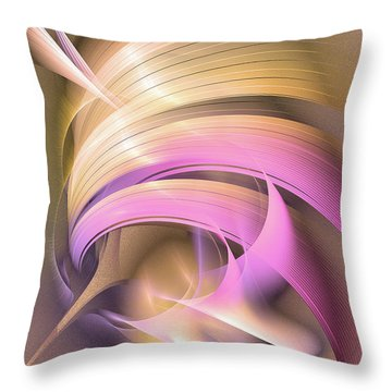 Tempus Rex - Abstract Art Throw Pillow