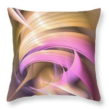 Tempus Rex - Abstract Art Throw Pillow