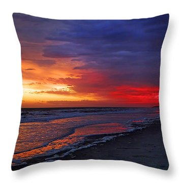 Ten Minutes On The Beach  Throw Pillow by Phill Doherty