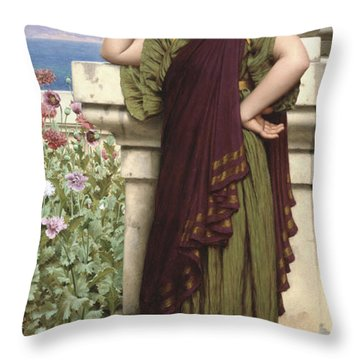 Tender Thoughts Throw Pillow by John William Godward