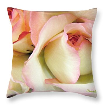 Tenderdly  Rose Throw Pillow by Danielle  Parent