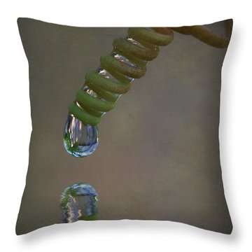 Tendril Droplet  Throw Pillow by Kym Clarke