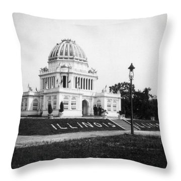 Tennessee Centennial In Nashville - Illinois Building - C 1897 Throw Pillow by International  Images