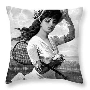 Tennis, 1887 Throw Pillow by Granger