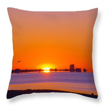 Throw Pillow featuring the photograph Tequila Sunrise by Brian Wright