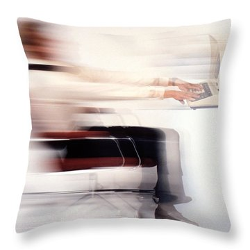 Terminal Speed Throw Pillow by Jerry McElroy